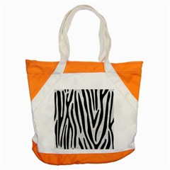 Skin4 Black Marble & White Leather (r) Accent Tote Bag by trendistuff