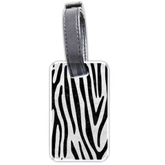 Skin4 Black Marble & White Leather (r) Luggage Tags (two Sides) by trendistuff