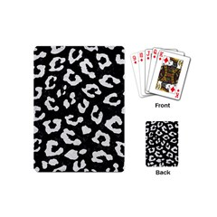 Skin5 Black Marble & White Leather Playing Cards (mini)  by trendistuff