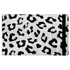 Skin5 Black Marble & White Leather (r) Apple Ipad 3/4 Flip Case by trendistuff