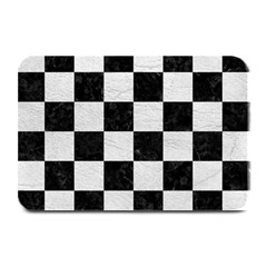 Square1 Black Marble & White Leather Plate Mats by trendistuff