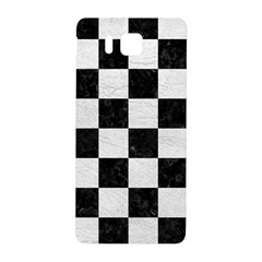 Square1 Black Marble & White Leather Samsung Galaxy Alpha Hardshell Back Case by trendistuff