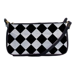 Square2 Black Marble & White Leather Shoulder Clutch Bags by trendistuff