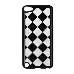 Square2 Black Marble & White Leather Apple Ipod Touch 5 Case (black) by trendistuff