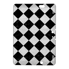 Square2 Black Marble & White Leather Kindle Fire Hdx 8 9  Hardshell Case by trendistuff