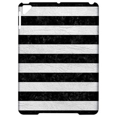 Stripes2 Black Marble & White Leather Apple Ipad Pro 9 7   Hardshell Case by trendistuff