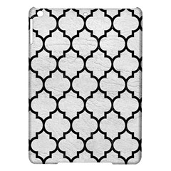 Tile1 Black Marble & White Leather Ipad Air Hardshell Cases by trendistuff