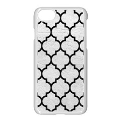 Tile1 Black Marble & White Leather Apple Iphone 7 Seamless Case (white) by trendistuff