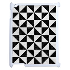 Triangle1 Black Marble & White Leather Apple Ipad 2 Case (white) by trendistuff
