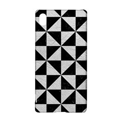 Triangle1 Black Marble & White Leather Sony Xperia Z3+ by trendistuff