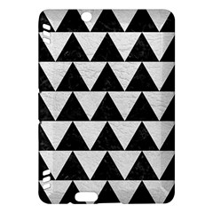 Triangle2 Black Marble & White Leather Kindle Fire Hdx Hardshell Case by trendistuff