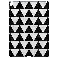 Triangle2 Black Marble & White Leather Apple Ipad Pro 12 9   Hardshell Case by trendistuff