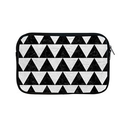 Triangle2 Black Marble & White Leather Apple Macbook Pro 13  Zipper Case by trendistuff