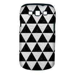 Triangle3 Black Marble & White Leather Samsung Galaxy S Iii Classic Hardshell Case (pc+silicone) by trendistuff