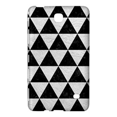 Triangle3 Black Marble & White Leather Samsung Galaxy Tab 4 (8 ) Hardshell Case