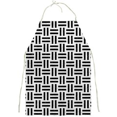 Woven1 Black Marble & White Leather Full Print Aprons by trendistuff