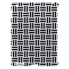 Woven1 Black Marble & White Leather Apple Ipad 3/4 Hardshell Case (compatible With Smart Cover) by trendistuff