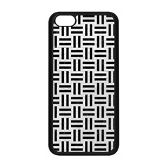 Woven1 Black Marble & White Leather Apple Iphone 5c Seamless Case (black) by trendistuff