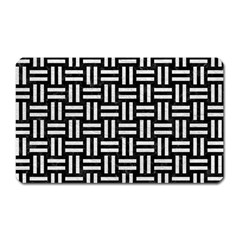 Woven1 Black Marble & White Leather (r) Magnet (rectangular) by trendistuff