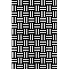 Woven1 Black Marble & White Leather (r) 5 5  X 8 5  Notebooks by trendistuff