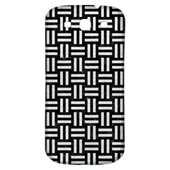 Woven1 Black Marble & White Leather (r) Samsung Galaxy S3 S Iii Classic Hardshell Back Case by trendistuff