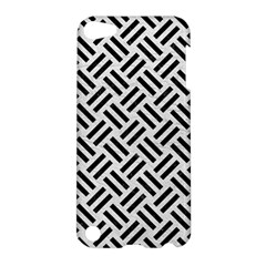 Woven2 Black Marble & White Leather Apple Ipod Touch 5 Hardshell Case by trendistuff
