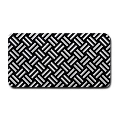 Woven2 Black Marble & White Leather (r) Medium Bar Mats by trendistuff