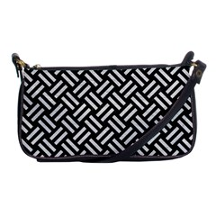 Woven2 Black Marble & White Leather (r) Shoulder Clutch Bags