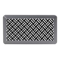 Woven2 Black Marble & White Leather (r) Memory Card Reader (mini)