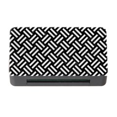 Woven2 Black Marble & White Leather (r) Memory Card Reader With Cf by trendistuff