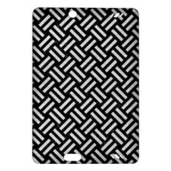 Woven2 Black Marble & White Leather (r) Amazon Kindle Fire Hd (2013) Hardshell Case