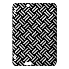 Woven2 Black Marble & White Leather (r) Kindle Fire Hdx Hardshell Case by trendistuff