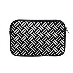 Woven2 Black Marble & White Leather (r) Apple Macbook Pro 13  Zipper Case by trendistuff