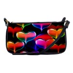 hearts on hearts clutch purse - Shoulder Clutch Bag