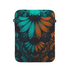 Beautiful Teal And Orange Paisley Fractal Feathers Apple Ipad 2/3/4 Protective Soft Cases by jayaprime