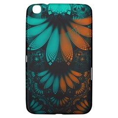 Beautiful Teal And Orange Paisley Fractal Feathers Samsung Galaxy Tab 3 (8 ) T3100 Hardshell Case  by jayaprime