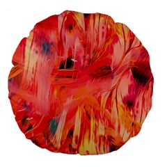 Abstract Acryl Art Large 18  Premium Flano Round Cushions by tarastyle