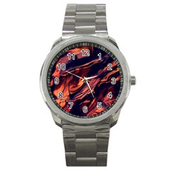 Abstract Acryl Art Sport Metal Watch by tarastyle