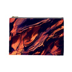 Abstract Acryl Art Cosmetic Bag (large)  by tarastyle