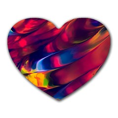 Abstract Acryl Art Heart Mousepads by tarastyle