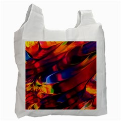 Abstract Acryl Art Recycle Bag (one Side) by tarastyle