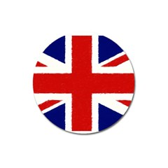 Union Jack Pencil Art Magnet 3  (round) by picsaspassion