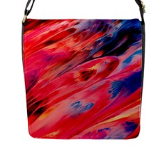 Abstract Acryl Art Flap Messenger Bag (l)  by tarastyle