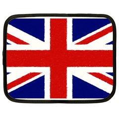 Union Jack Watercolor Drawing Art Netbook Case (large) by picsaspassion