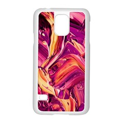 Abstract Acryl Art Samsung Galaxy S5 Case (white)