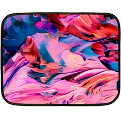 Abstract Acryl Art Double Sided Fleece Blanket (mini)  by tarastyle