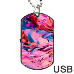 Abstract Acryl Art Dog Tag Usb Flash (one Side) by tarastyle