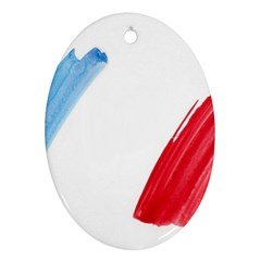 France Flag, Banner Watercolor Painting Art Oval Ornament (two Sides) by picsaspassion
