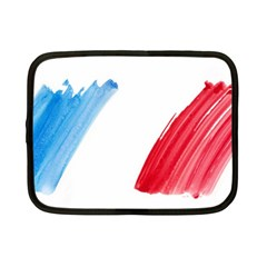France Flag, Banner Watercolor Painting Art Netbook Case (small)  by picsaspassion