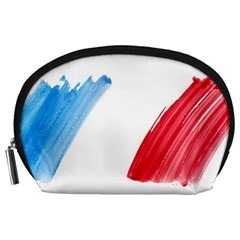 France Flag, Banner Watercolor Painting Art Accessory Pouches (large)  by picsaspassion